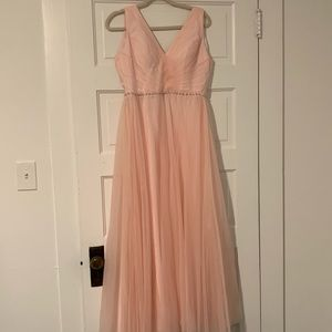Light pink bridesmaid dress- perfect condition!